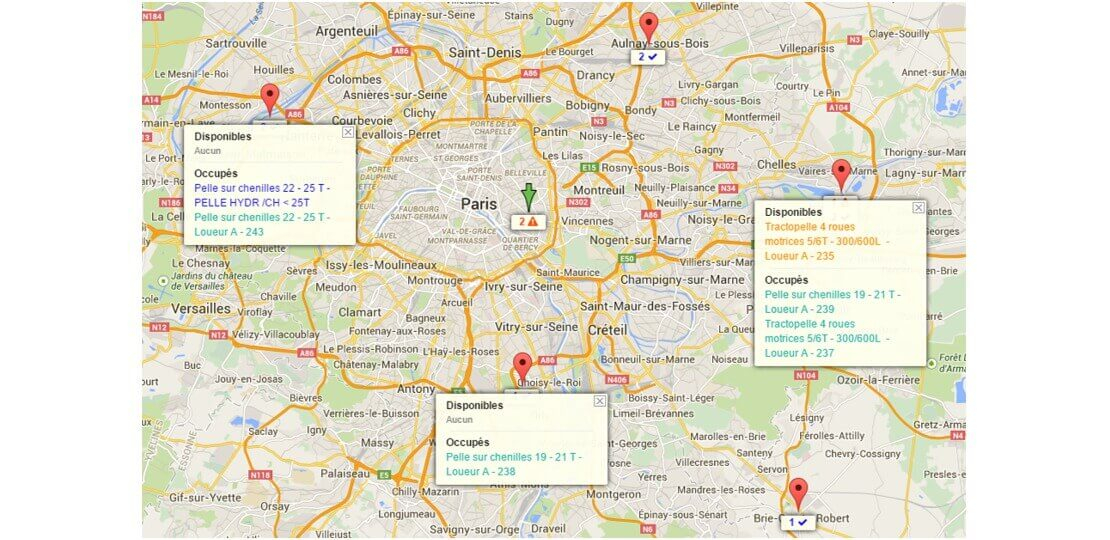 Chantier cartographie logiciel construction Dispatcher
