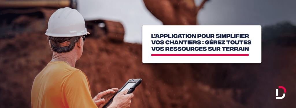 application mobile gestion ressources BTP
