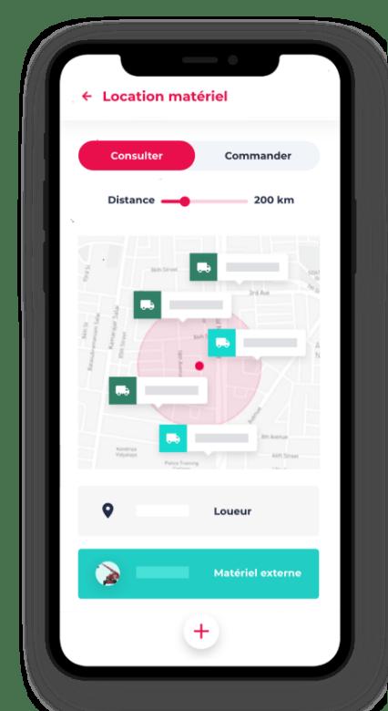 application mobile location ressources Dispatcher